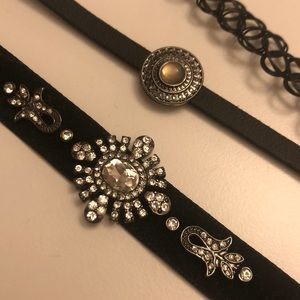 Aldo Jewelry - 3 black Choker set